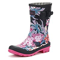 Joules Womens French Navy All Over Floral Molly Wellies