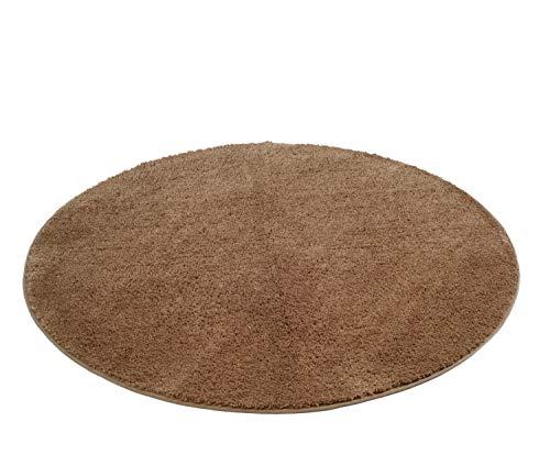 Gözze Mikrofaser Badteppich, rund 110 cm Durchmesser, RIO, Sand, 1025-73-110000