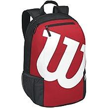 Wilson Match II Bkrd - Bolsa de tenis, color negro / rojo, talla única