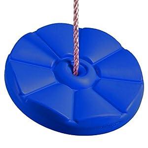 Ultrakidz Asiento para columpio, tabla de columpio con forma de flor, de plástico resistente a la intemperie, regulable en altura, Azul