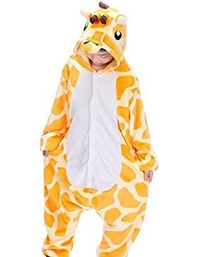 Semia Kinder Pyjamas Cosplay Halloween für Mädchen Jungen Schlafanzug Unisex Jumpsuit Tierkostüme Verdickt Flanellen...