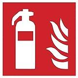 Piktogramm Feuerlöscher, nach ISO 7010, 200x200 mm - Kennzeichnung selbstklebend