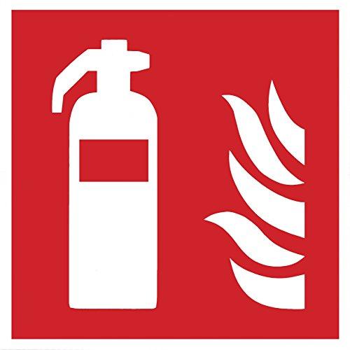 Brandschutzzeichen Symbolschild Feuerlöscher ISO Folie selbstklebend 200x200mm