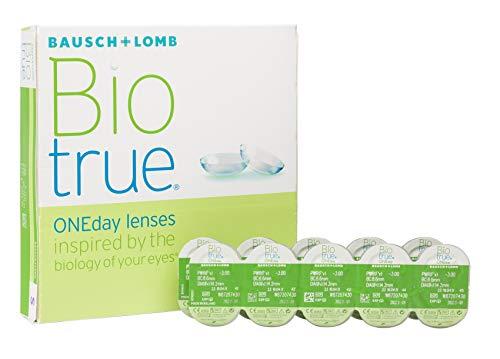 Biotrue ONEday Inspiriert von der Natur Ihrer Augen Tageslinsen weich, 90 Stück BC 8.6 mm / DIA 14.2 / -1 Dioptrien