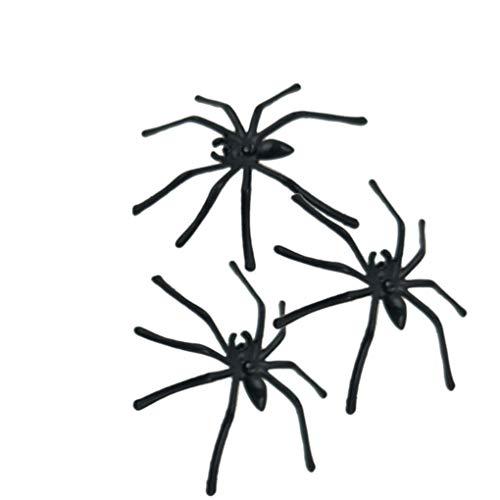 Fangfeen 100PCS Plastik Realistische Spinne Gefälschte Spinne praktische Witze Props Prank Halloween-Party-Dekoration
