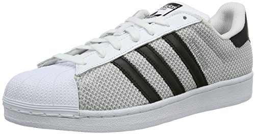 adidas Superstar - Zapatillas Unisex Adulto, Gris (Grey/Mesh), 43 1/3 EU