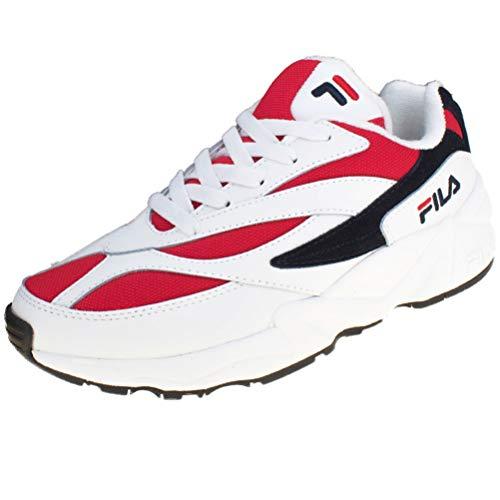 Fila V94M W Schuhe White/Navy/red - Kinder Fila