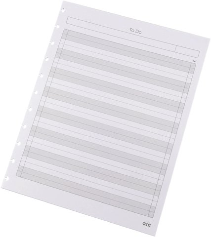 Refill-Paper Ledger Style f.arc Spiral Paper White A4 100 G 50 Sheet