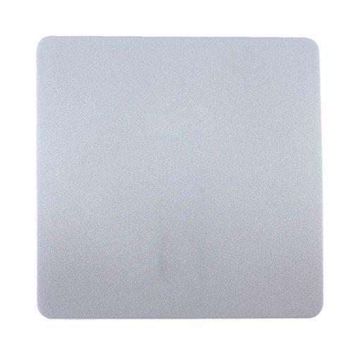 Blanking Plate (Trendi Artistic Modern glänzend Taktile Single Blanking Plate Silber Art-blksi)