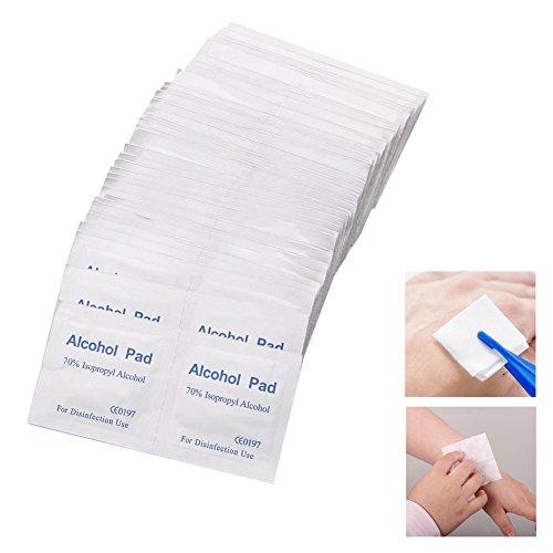 Cold Toy 100 Stück Alkohol abwischen Pad medizinische Tupfer Antibakterielle Tool Cleanser (Medizinische Alkohol)