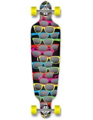 Punked - Longboard completo profesional, tipo drop through, Shades