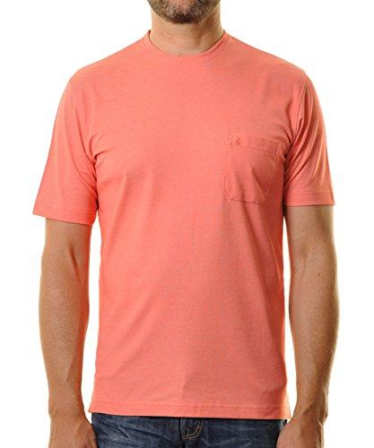 RAGMAN Herren RAGMAN T-Shirt Softknit uni, Pflegeleicht Erdbeere-065