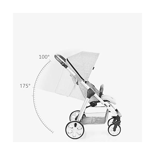 Baby Stroller One-button Car Stroller Shock Absorber Stroller Light High Landscape Can Sit Reclining Fold (Color : WHITE, Size : 111 * 89 * 60CM) Strollers Zhangsisi ☻【Scope of use】Twin strollers for urban and rural multi-purpose trolley bearing an amazing amount of public plate, and comfortable to use, powerful ☻【powerful functions】 Convenient for travel and driving, our baby car is easy to fold, small footprint, single wheel suspension, front tray, accessories, adjustable seat angle, sturdy frame with adjustable seat adjustment and comfortable fit baby chair. ☻【safe and comfort】 Baby can not afford to hurt, the most important health, safety and comfort, a key release of 5-point seat belts. 6