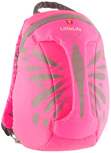 LittleLife High Visibility Kids Daysack – Pink Butterfly