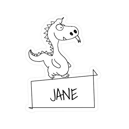 JOllipets Baby Kinder Aufkleber - Jane - Variante: Tiere Zoo - Farbe: Design: Drache (Jane Drache)