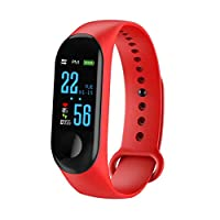 bangbangxing Smart Bracelet Wristband Color Screen Heart Rate Exercise Meter Smart Red