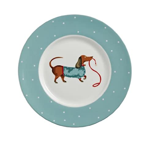 Ulster Weavers Hound Dog Bone China Side Plate, 7.5-Inch