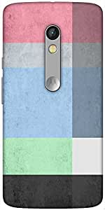 Snoogg Palette Designer Protective Back Case Cover For Motorola Moto X Play