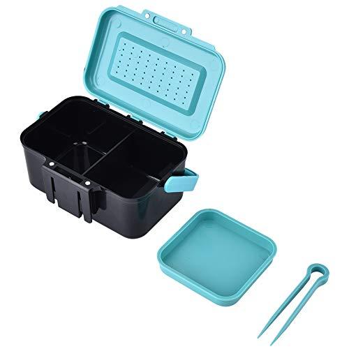Live Bait Box, tragbarer Köder Aufbewahrungskoffer Wurm Angelgerät mit Zwischenschicht und Pinzette -