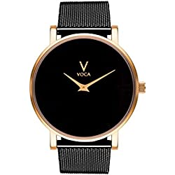 Acclaro 40mm Black and Gold with Black mesh strap