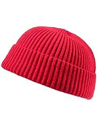 Amazon.it  cappello lana donna - Rosso   Berretti in maglia ... 7dcf1c466db1
