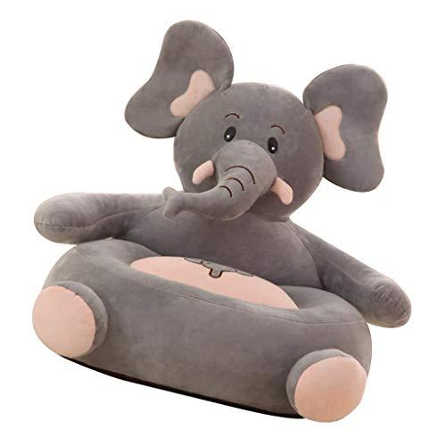 F Fityle Cubierta Animal del Sofá De La Silla del Bolso De Haba De La Felpa De La Forma para Los Muebles del Sofá De Los Niños - Elefante, Individual