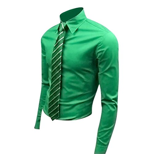 jeansian Homme Chemises Casual Shirt Tops Mode Men Slim Fit 8504 green