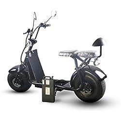 Scooter Eléctrico 1000W Harley E-Bike con App, alarma 2asientos