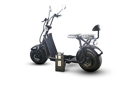 1000W-60V- 20Ah eléctrico grasa neumático scooter recargable extraíble Harley E-Bike con App,...