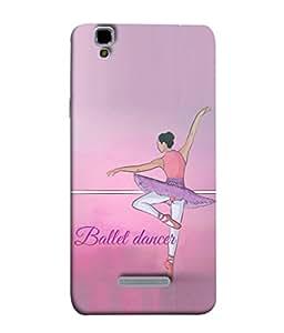 YU Yureka, YU Yureka AO5510 Back Cover Trendy Vector Illustration Of Cute Ballet Dancer Design From FUSON