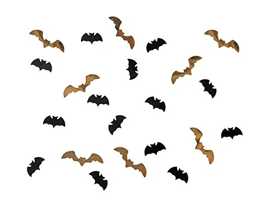 cama24com Halloween Konfetti Fledermaus Vampir in Gold und Schwarz 15g Beutel Horror-Grusel-Party-Deko Palandi®