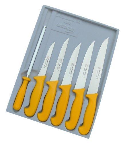 Schlachtermesser Set 6 tlg. GSK gelb Marsvogel Solingen # 100613 Metzgermesser Set bestehend aus:...