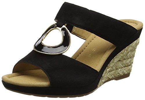 Gabor Comfort,  Sandales Compensées  Femme Noir (schwarz Bast)