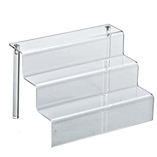 Azar 326046 9-Inch W by 6.25-Inch D Three-Tier Acrylic Step Display