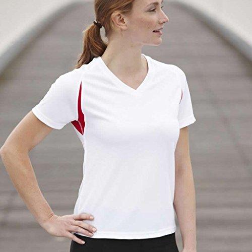 JAMES & NICHOLSON Funktionelles Laufshirt White/Red
