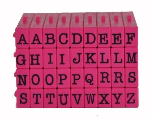 Pegz Stamp American Typewriter 36 -piece Uppercase Letter Starter Rubber Stamp Set