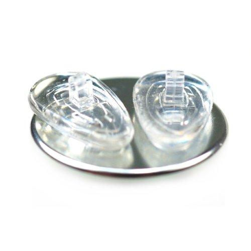 6 Paare 15 mm Tropfenform Silikon Brillen Nasenpads / Brillenpads Schraub System