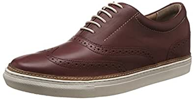 Hush Puppies Men's Travis Nicholas Red Leather Boat Shoes - 11 UK/India (45 EU)(8245943)