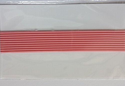 bastelkoerble Verzierwachs - Wachsstreifen in Rosa rund, 200 x 2mm - 10 Stück.