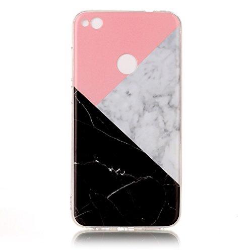 Für Huawei P8 Lite 2017 Abdeckung Marmor Stein Textur Muster Anti-Kratzer Shockproof Ultra Slim Soft TPU Schutzmaßnahmen zurück Cover Case Shell ( Color : C ) M