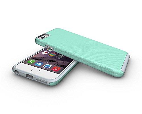Iphone 6 Plus Coque,Étui Housse Protection Shell Case Couverture Defender TPU de + PC Forte Hybride Téléphone Capa Cas Pour Apple iPhone 6/6s Plus -Noir Vert