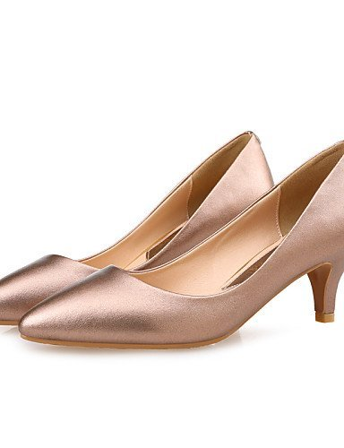ShangYi Damenschuhe-High Heels-Hochzeit / Kleid / Party & Festivität-Mikrofaser-Stöckelabsatz-Absätze / Spitzschuh-Schwarz / Silber / Champagner Black