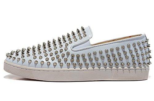 saman-baskets-unisexe-roller-boat-mollet-en-peau-dagneau-blanc-pur-de-repos-sur-antiderapant-chaussu