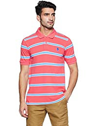 US Polo Association Men's Striped Regular Fit Polo