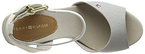 Tommy Plateau V1285alencia Damen silver 050 Hilfiger Grau 1d Grey wqRvawAr