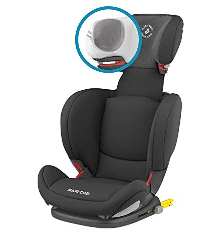 Maxi-Cosi RodiFix AirProtect Child Car Seat, Isofix Booster Seat, Black, 15-36 kg Maxi-Cosi Booster car seat for children from 15-36 kg (3.5 to 12 years) Grows along with your child thanks to the easy headrest and backrest adjustment from the top Patented air protect technology for extra protection of child's head 10