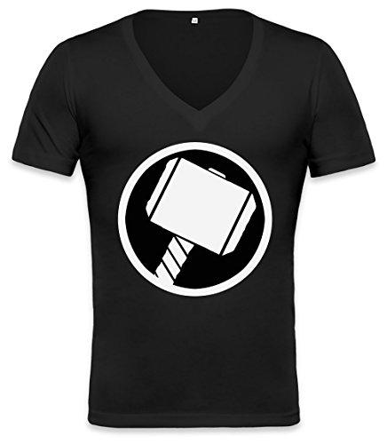 Thor\'s Hammer Unisex Deep V-neck T-shirt XX-Large