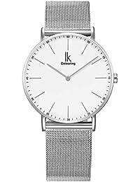Alienwork IK Quarz Armbanduhr elegant Uhr Herren Uhren modisch Zeitloses Design Metall weiss silber U04916G-01