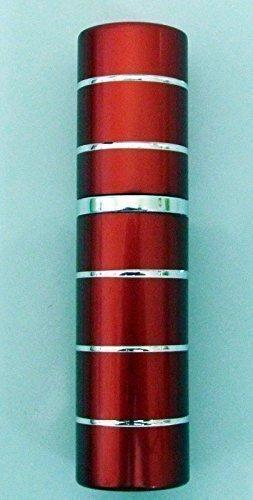 rechargeable parfum pulvérisateur Pulvérisateur Après Rasage Voyage Pulvérisateur Miniature bouteille 5ml (rouge et argent)