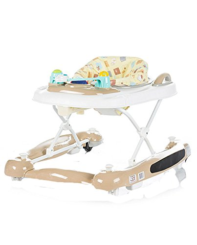 Chipolino 3-in-1 Baby Walker, Beige, Lilly Chipolino The fabric on the base easily detached and you can use it as a baby walker May be used as a cradle - base transforms into rocker Colourful tray with toys and musical panel to entertain the baby, the tray toy can also be detached and used separately 2